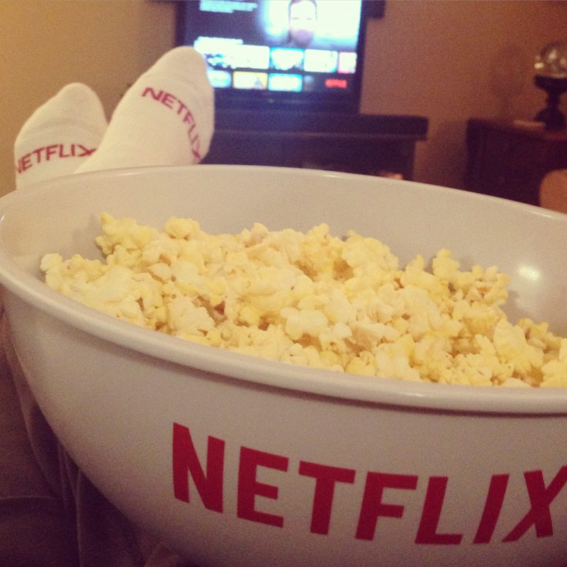 Our relaxed summer includes lots of Netflix time relaxing and unwinding from busy days.
