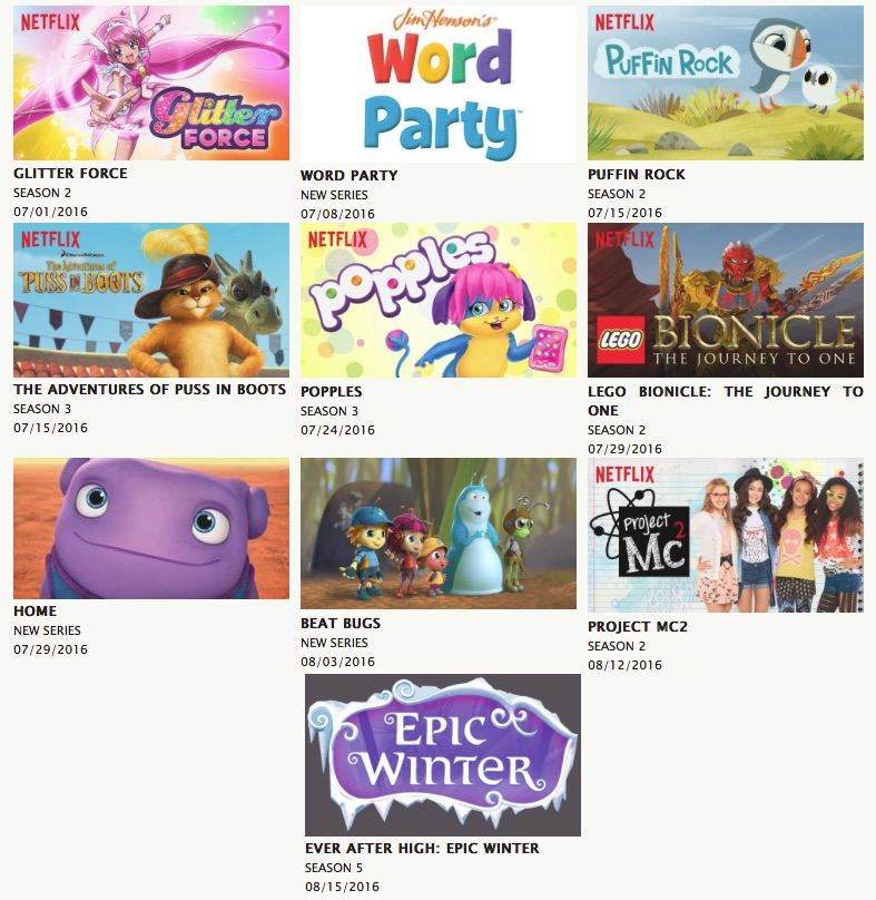 New shows on Netflix for kids all summer long!