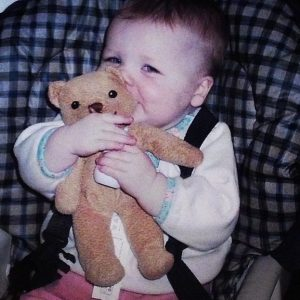 Grace's favourite stuffies are Ikea Blund bears from 2005