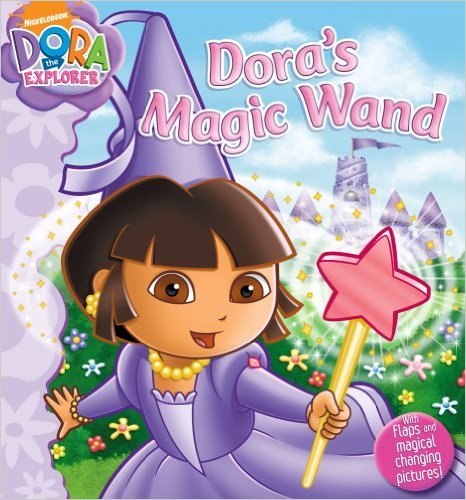 My kids knew exactly what they wanted to be for Halloween this year. Maggie dressed as Dora from Dora's Magic Wand.