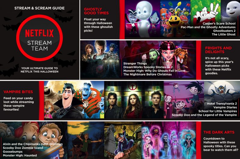 Netflix has lots of shows to keep your goblins busy while they wait for candy go-time, this Halloween.