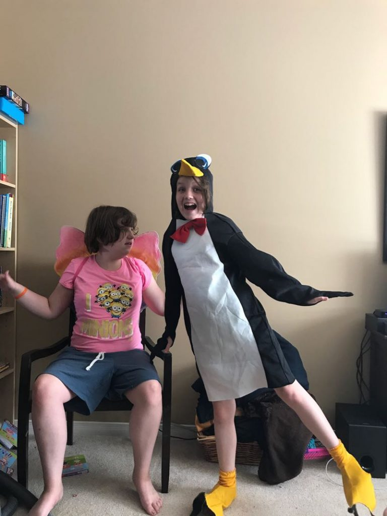 Sam from Atypical shares a love of Penguins with Maddy. An Atypical autism special interest!