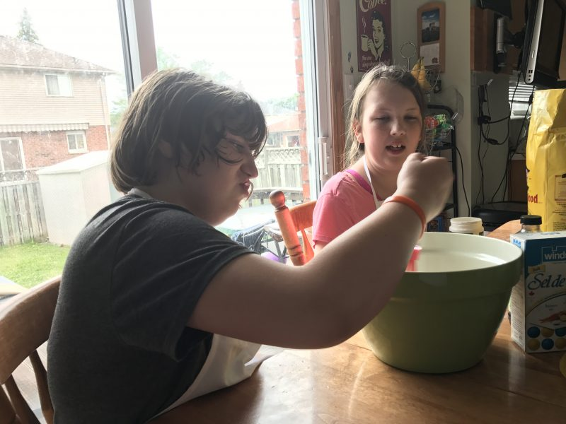 Maddy loves to copy what she has seen in her favourite shows. Like a dirty bathtub snowman or a cake as tall as the house! #autism
