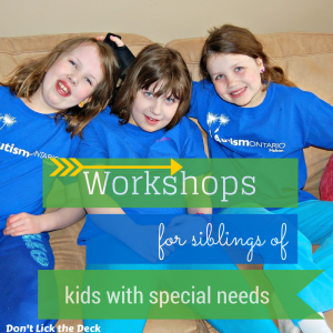 Sibling Workshops for Brothers and Sisters of Kids with Special Needs