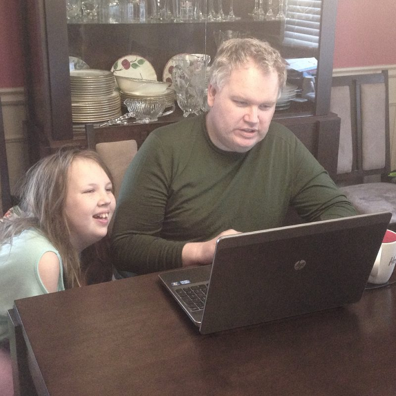 When your dad's a computer engineer you get in-house coding camp !