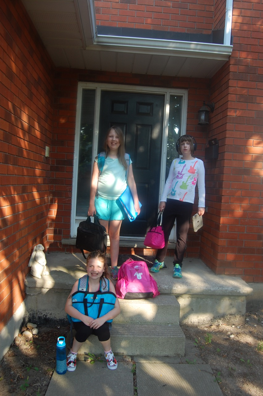 The kids went back to school for real this time. Maybe.